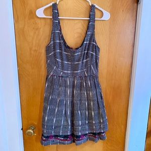 Free People New Romantics Grey Ikat Dress